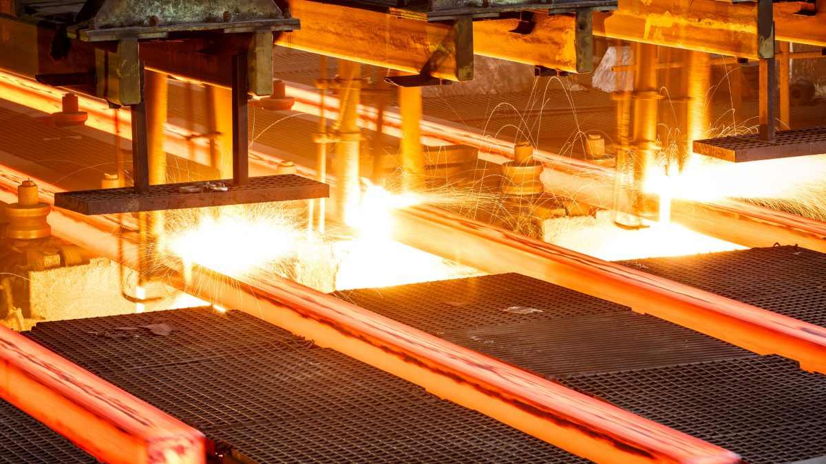 Steel production industry